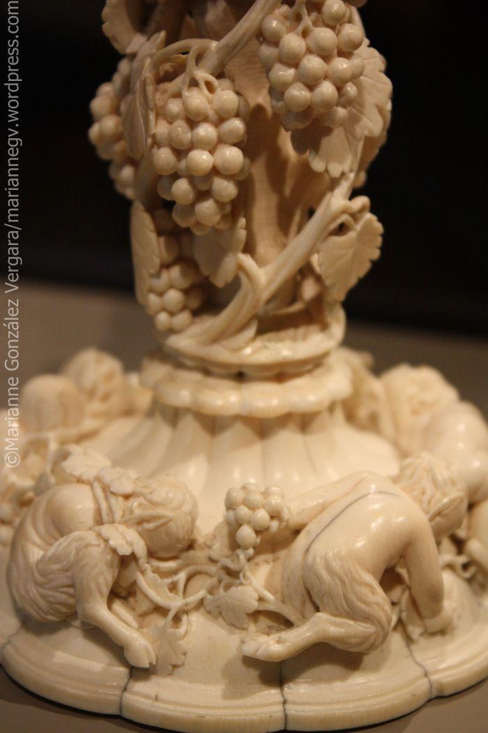 Delicate vase detail