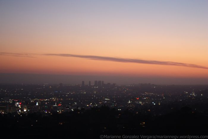 View of Los Angeles, California, from Griffith Observatory.