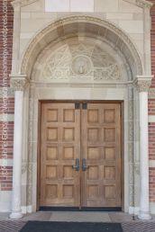 Roce hall door, UCLA