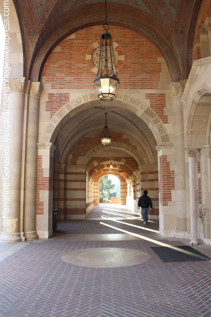 Royce Hall's hallways, UCLA