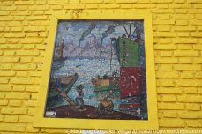 Tile art at El Caminito streets. Buenos Aires, Argentina