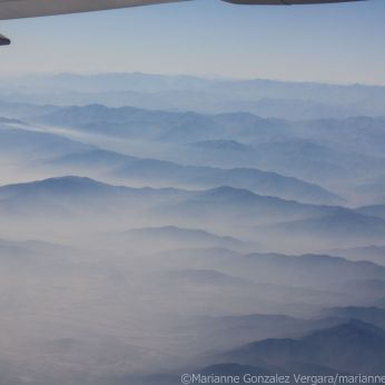 A view of the Andes from an airplane