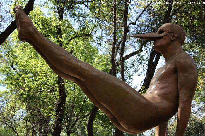 Mexico City. Bronze sculpture made by Mexican artist Jorge Marin