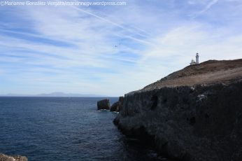 View of Anacapa Island, California, from a boat.