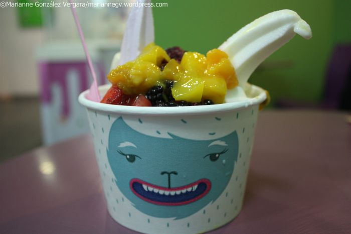 Yeti face ice cream