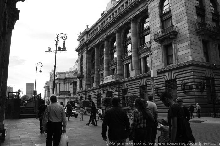 Mexico City Downtown. Tacuba Street