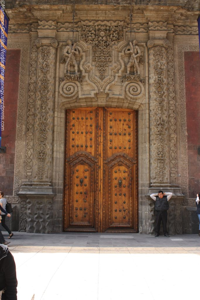Door of the Palace of Iturbide. Mexico City downtown.